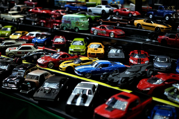 Car park for toy cars